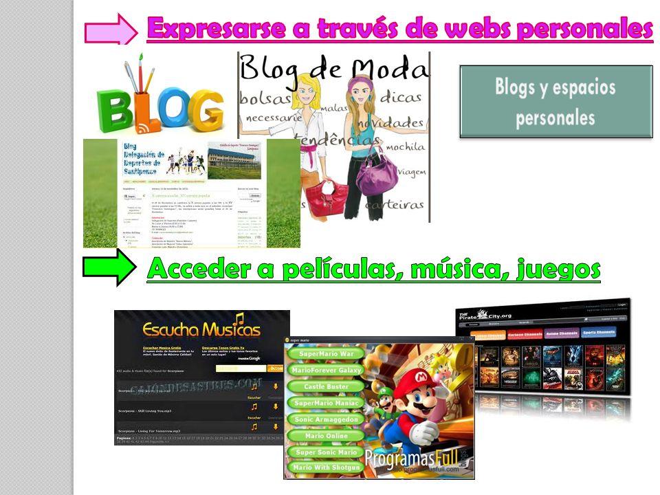 Expresarse a través de webs personales