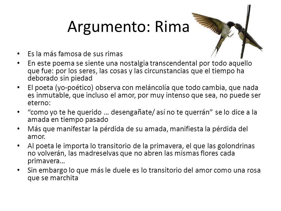 Argumento: Rima LIII Es la más famosa de sus rimas