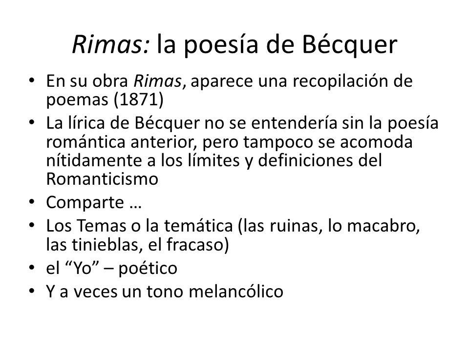 Rimas: la poesía de Bécquer