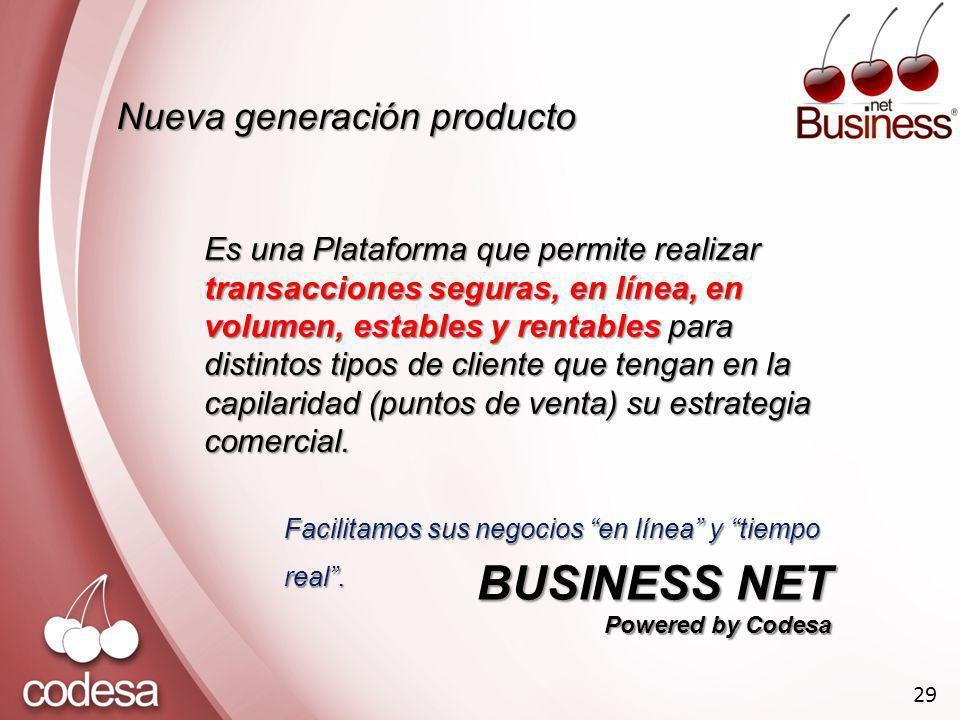 BUSINESS NET Nueva generación producto