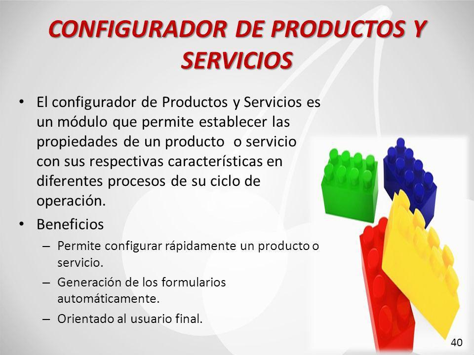 CONFIGURADOR DE PRODUCTOS Y SERVICIOS