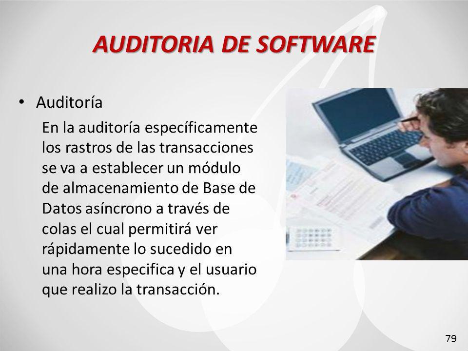 AUDITORIA DE SOFTWARE Auditoría