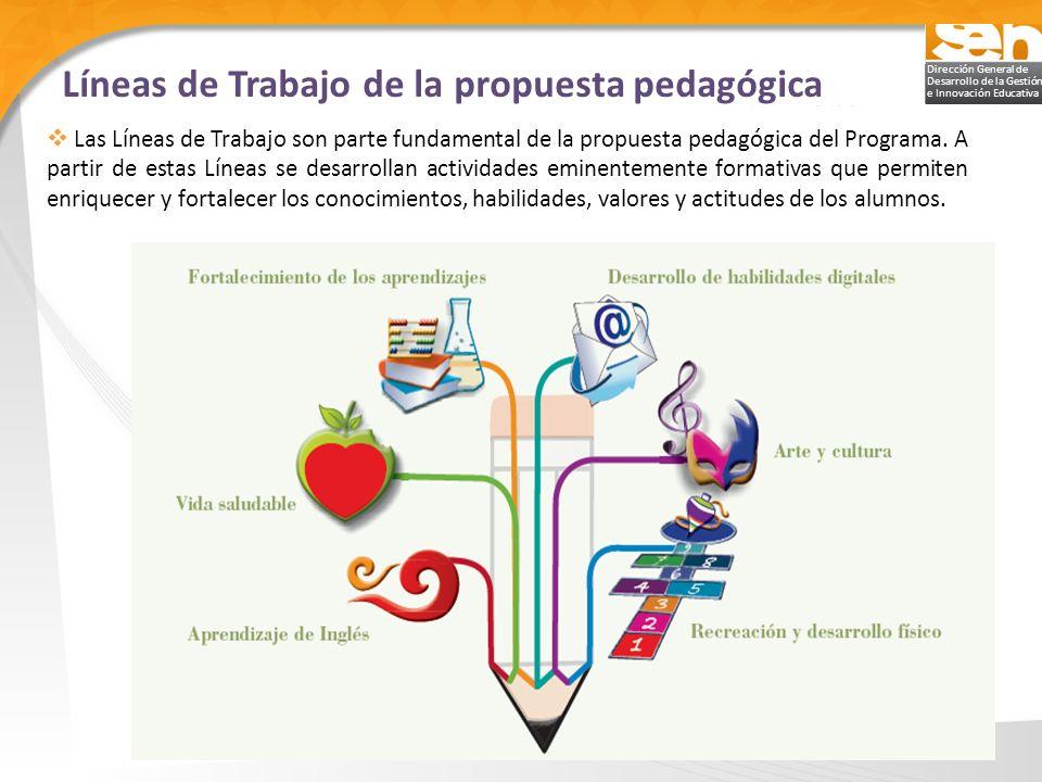 Líneas de Trabajo de la propuesta pedagógica