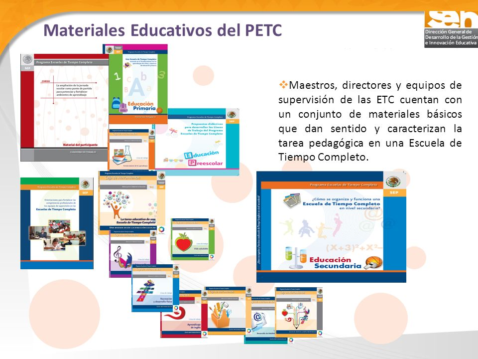 Materiales Educativos del PETC