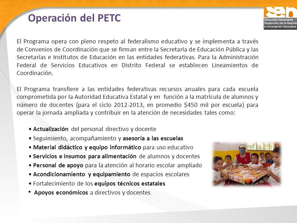 Operación del PETC