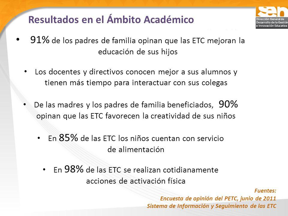 En 85% de las ETC los niños cuentan con servicio de alimentación