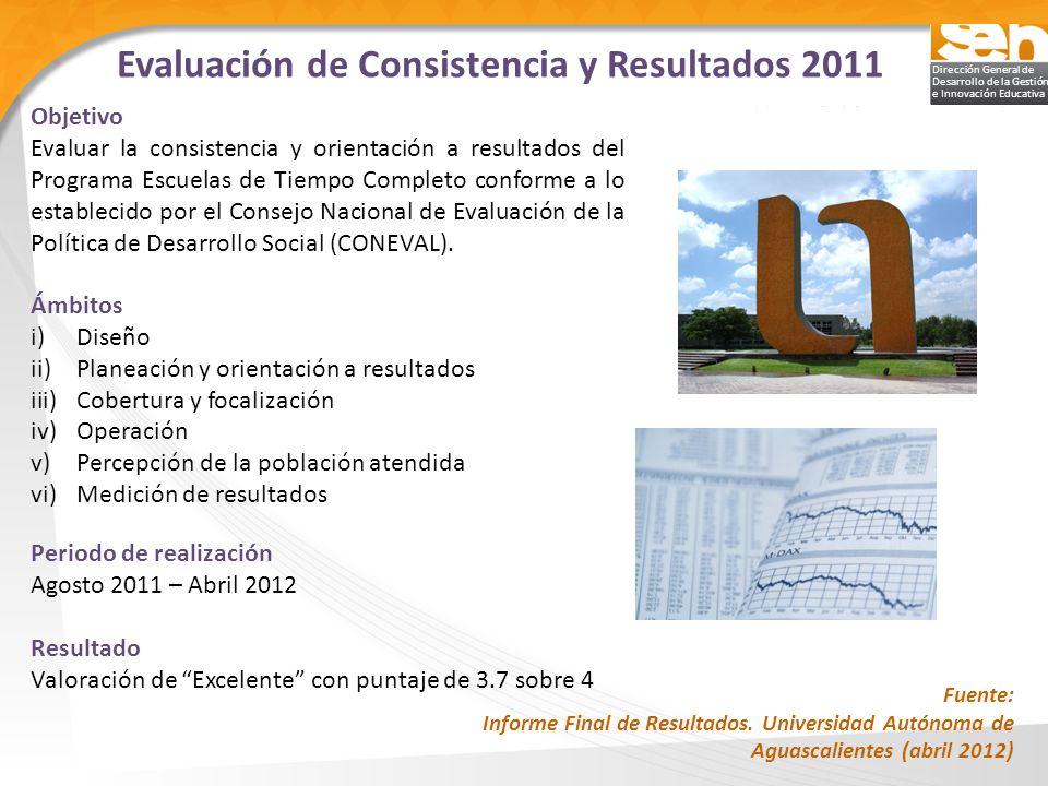 Evaluación de Consistencia y Resultados 2011