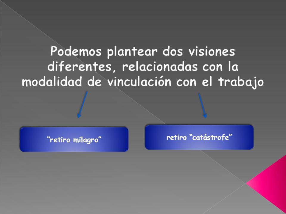 Podemos plantear dos visiones diferentes, relacionadas con la modalidad de vinculación con el trabajo