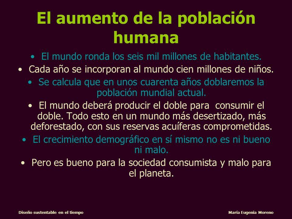 El aumento de la población humana