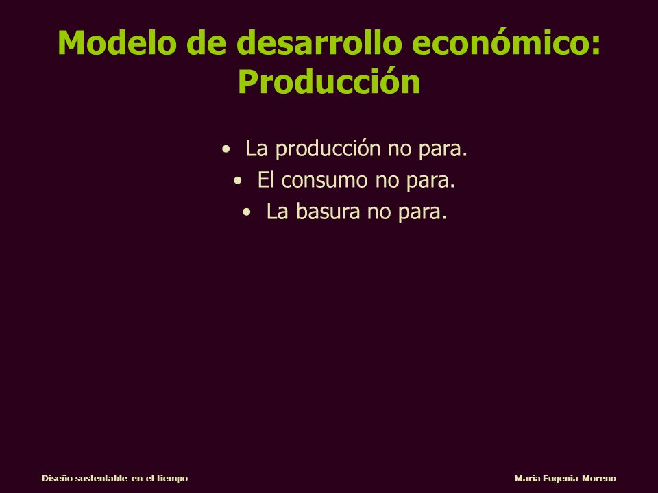 Modelo de desarrollo económico: Producción