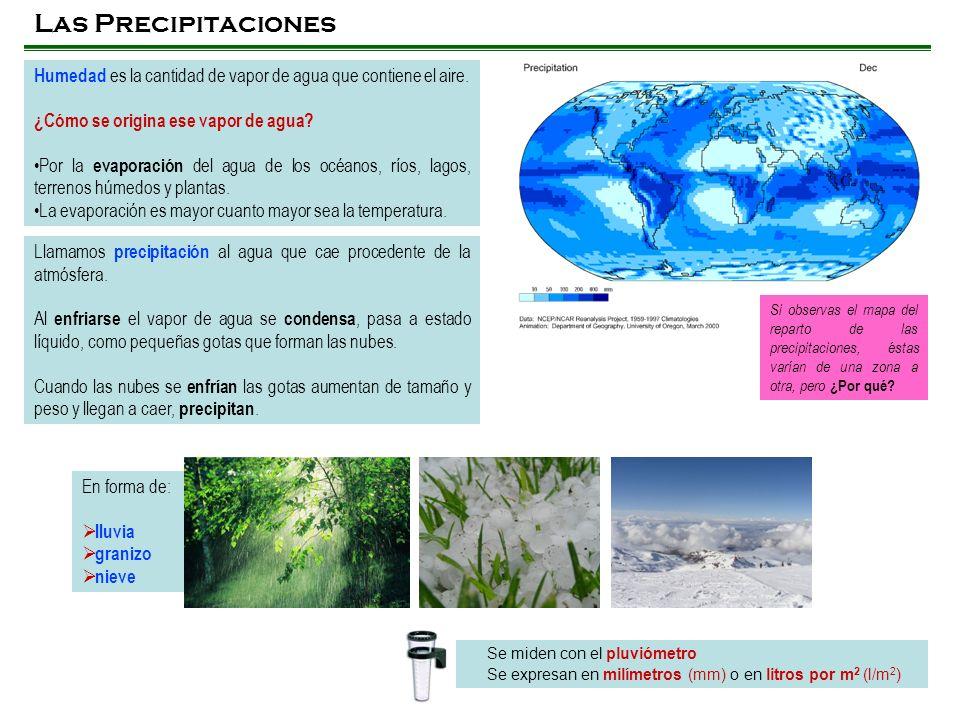 Las Precipitaciones Humedad es la cantidad de vapor de agua que contiene el aire. ¿Cómo se origina ese vapor de agua