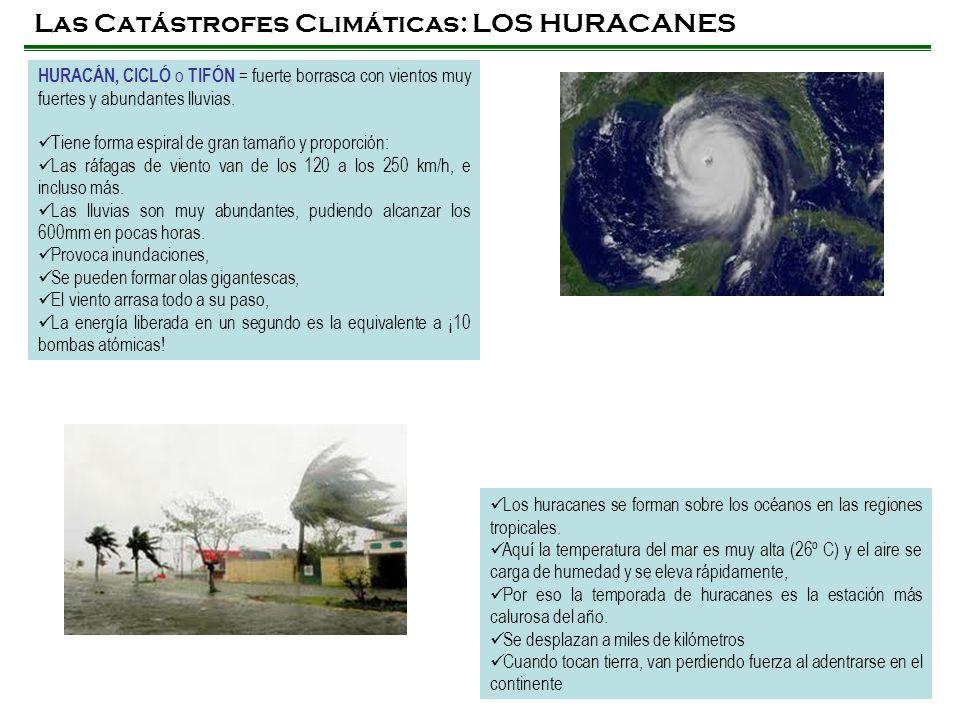 Las Catástrofes Climáticas: LOS HURACANES