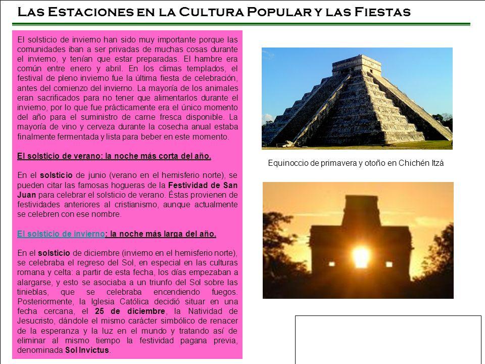 Las Estaciones en la Cultura Popular y las Fiestas