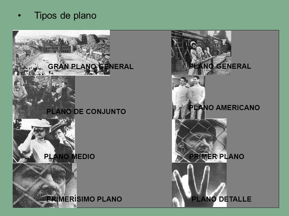 Tipos de plano PLANO GENERAL PLANO DE CONJUNTO PLANO AMERICANO