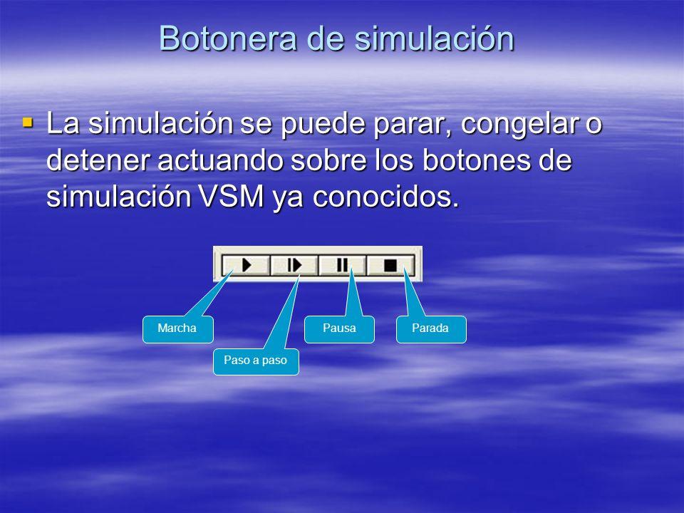 Botonera de simulación