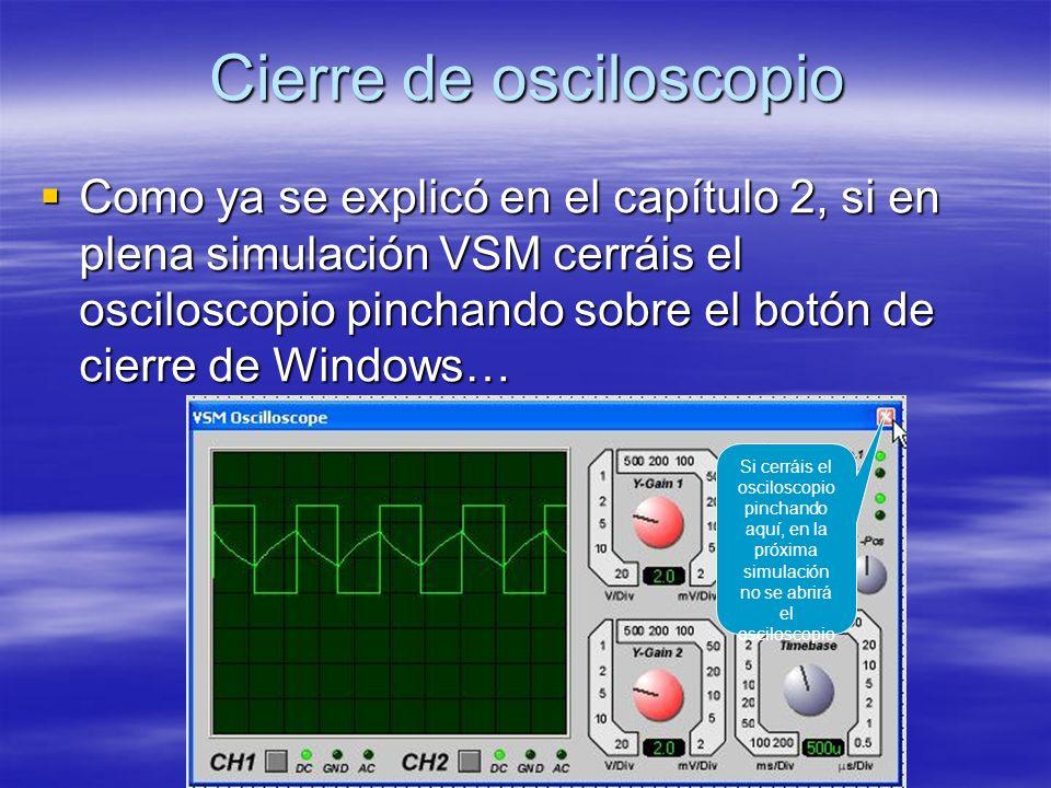 Cierre de osciloscopio