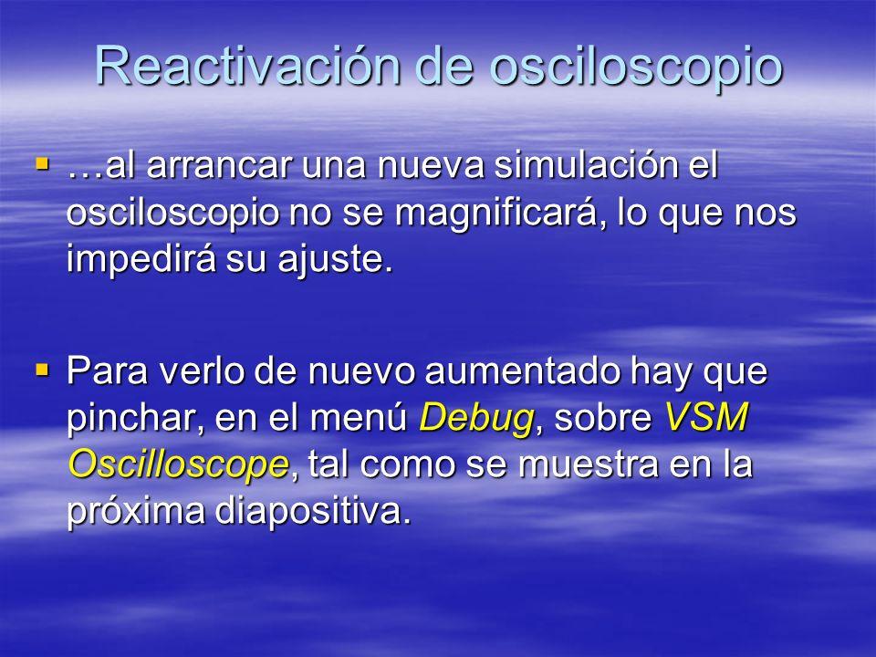 Reactivación de osciloscopio