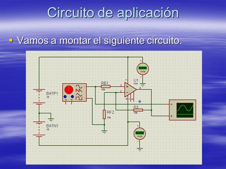 Circuito de aplicación