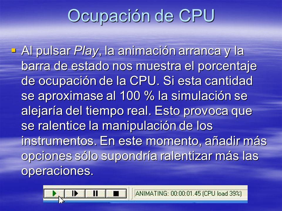Ocupación de CPU
