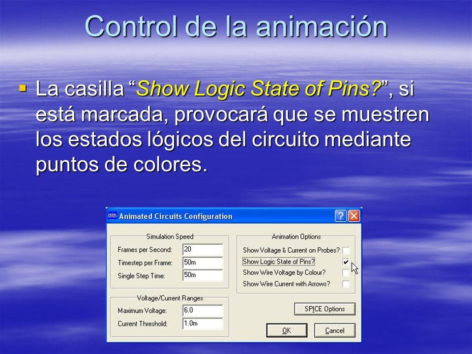 Control de la animación
