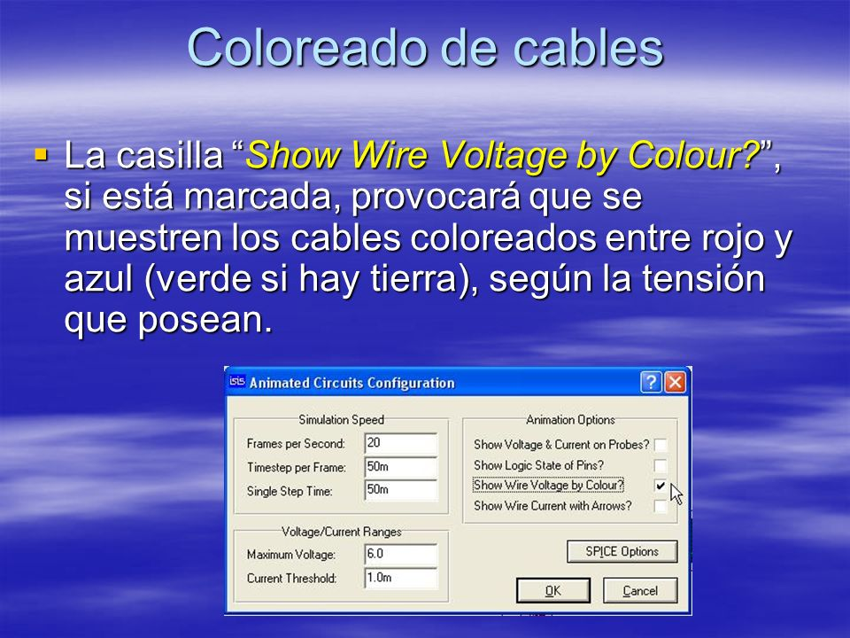 Coloreado de cables