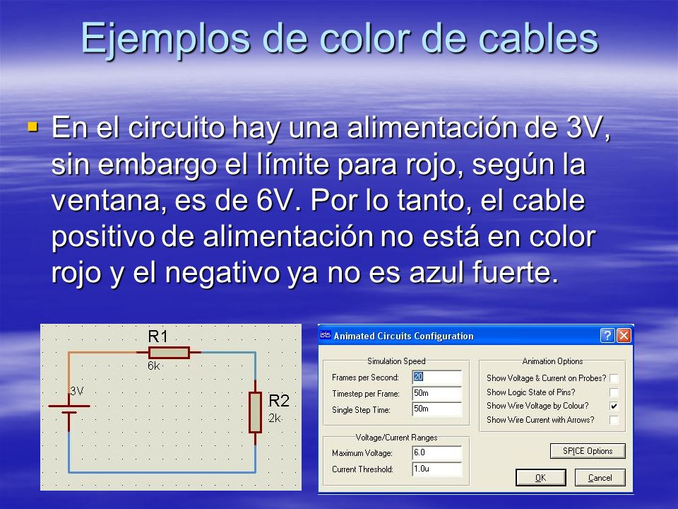 Ejemplos de color de cables