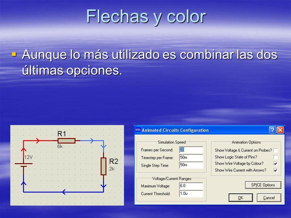Flechas y color Aunque lo más utilizado es combinar las dos últimas opciones.