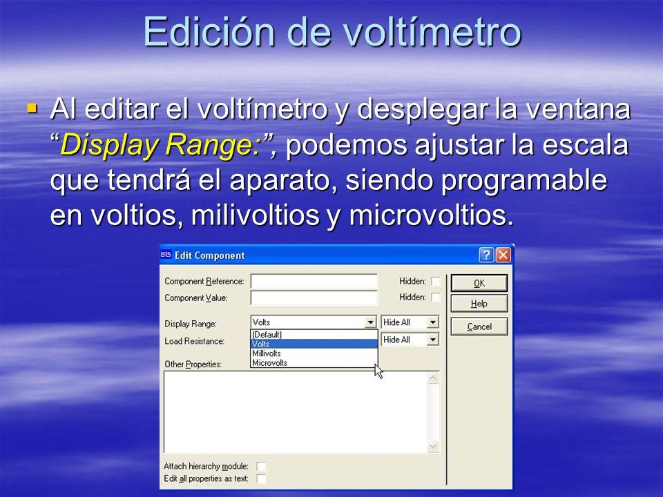 Edición de voltímetro