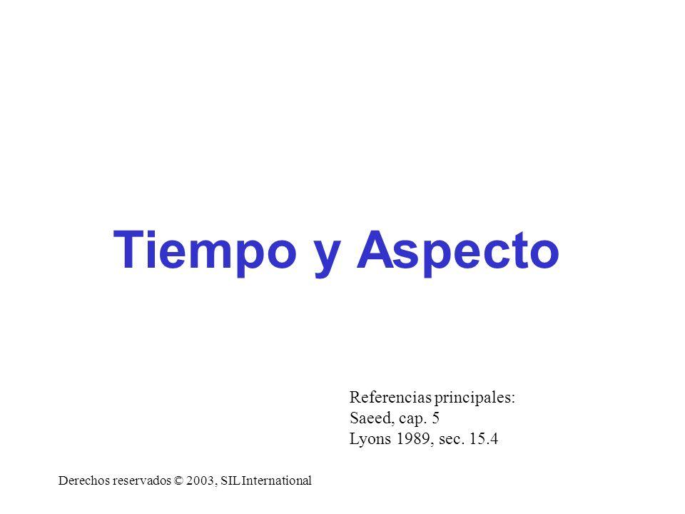 Tiempo y Aspecto Referencias principales: Saeed, cap. 5