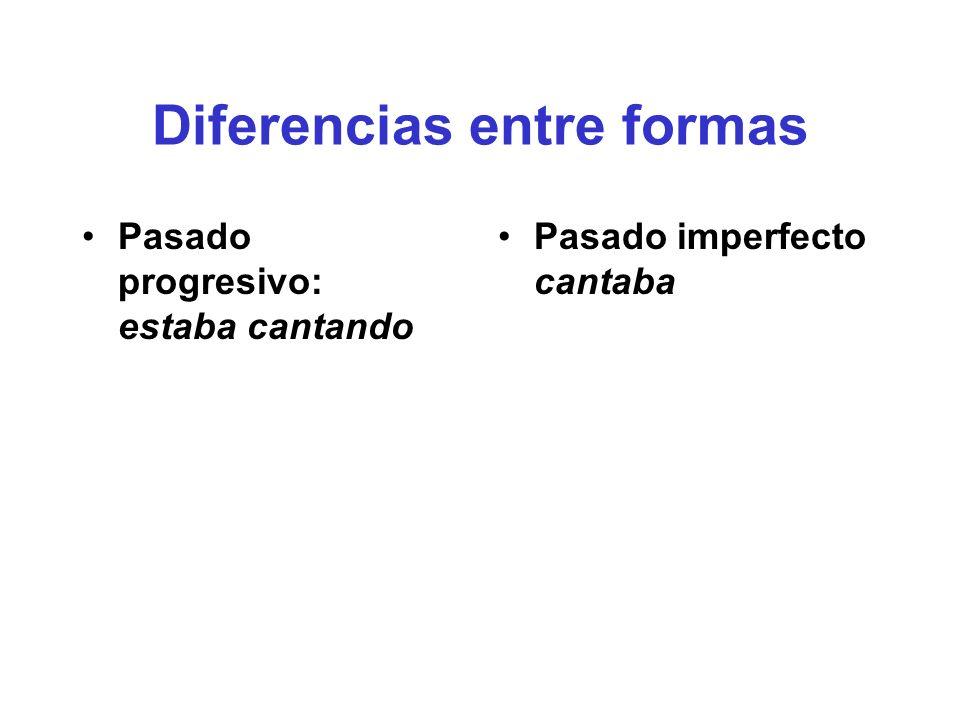Diferencias entre formas