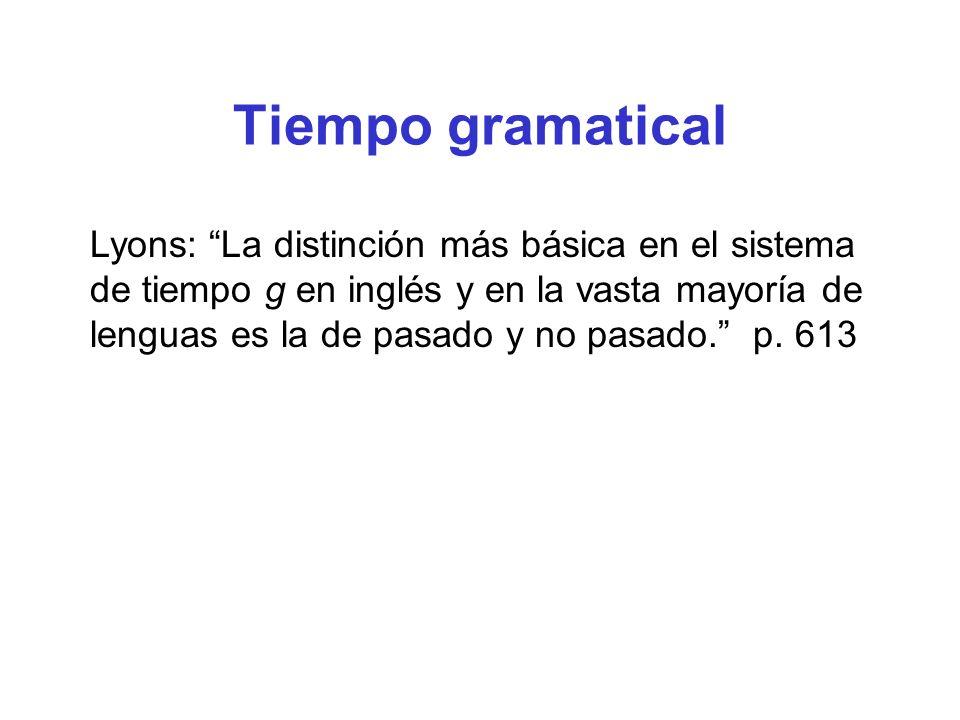 Tiempo gramatical