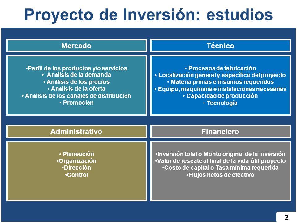 Proyecto de Inversión: estudios