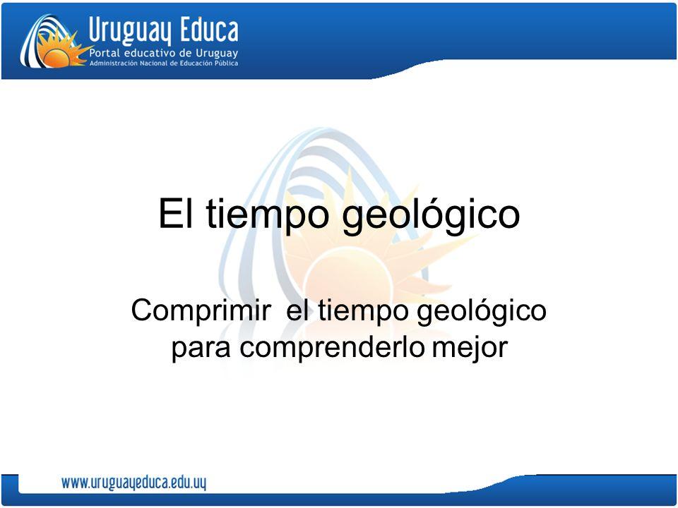 Comprimir el tiempo geológico para comprenderlo mejor