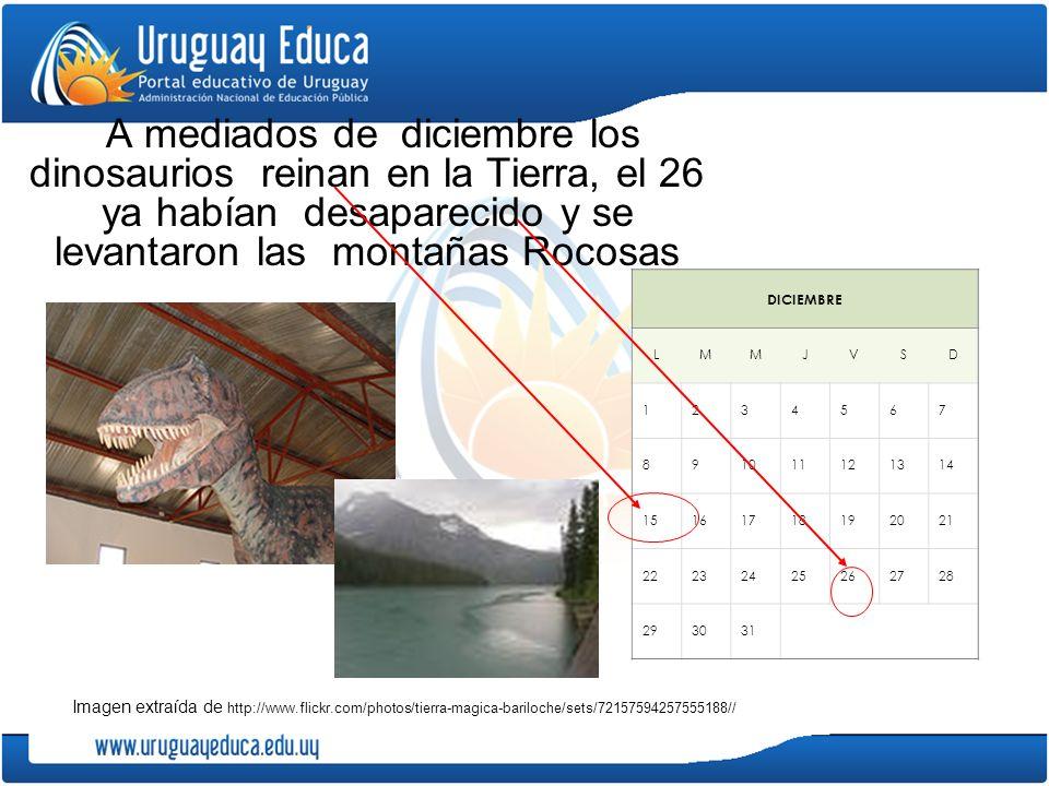 A mediados de diciembre los dinosaurios reinan en la Tierra, el 26 ya habían desaparecido y se levantaron las montañas Rocosas