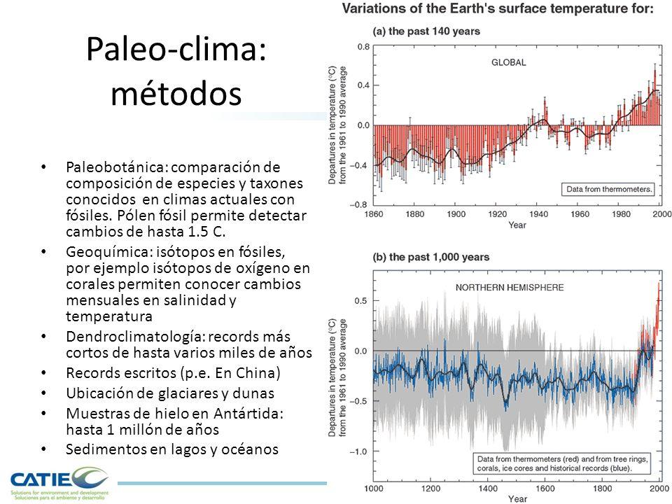 Paleo-clima: métodos