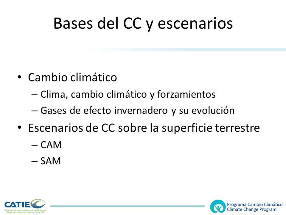 Bases del CC y escenarios