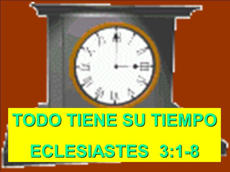 TODO TIENE SU TIEMPO ECLESIASTES 3:1-8