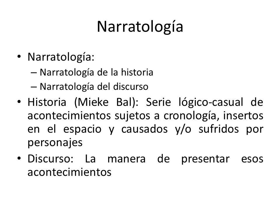 Narratología Narratología: