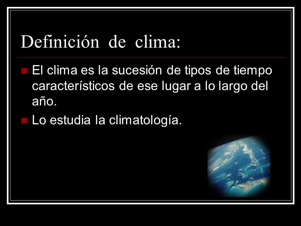 Escriba aquí el texto Escriba aquí el texto Definición de clima: