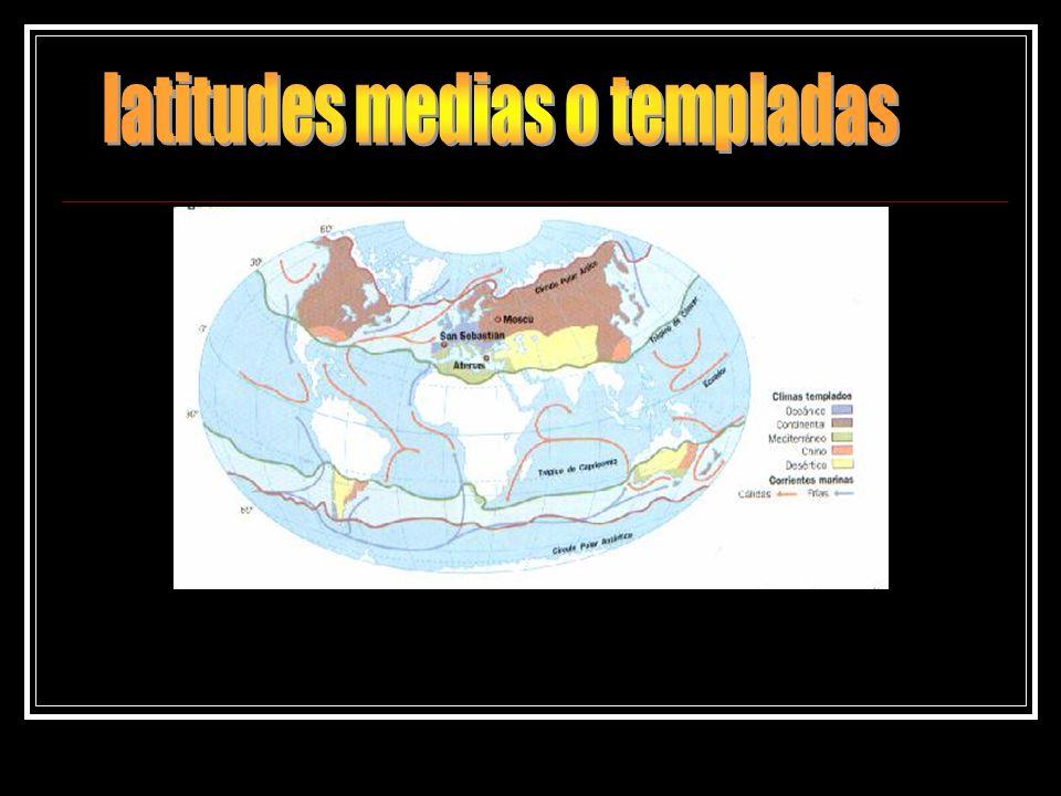 latitudes medias o templadas