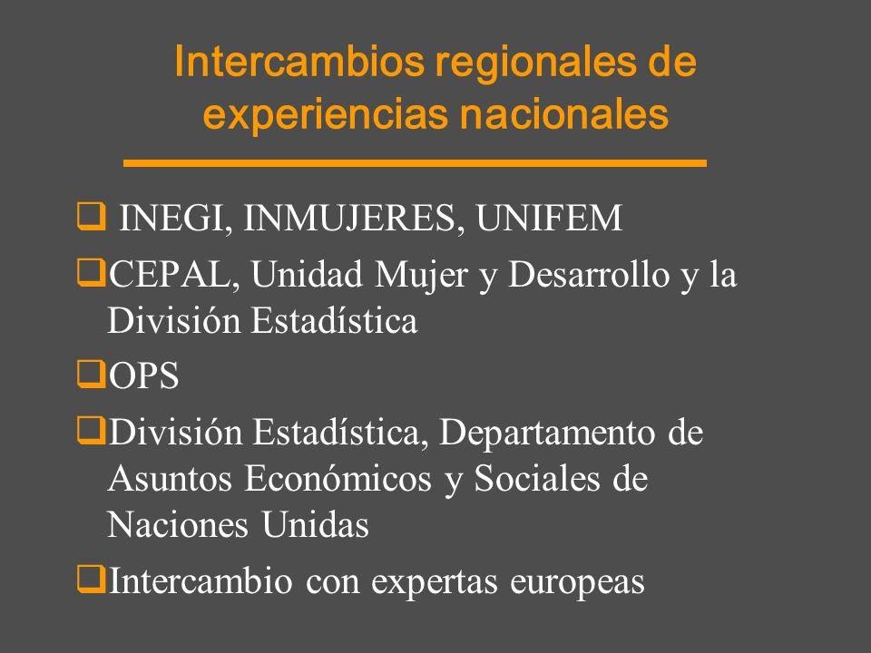 Intercambios regionales de experiencias nacionales