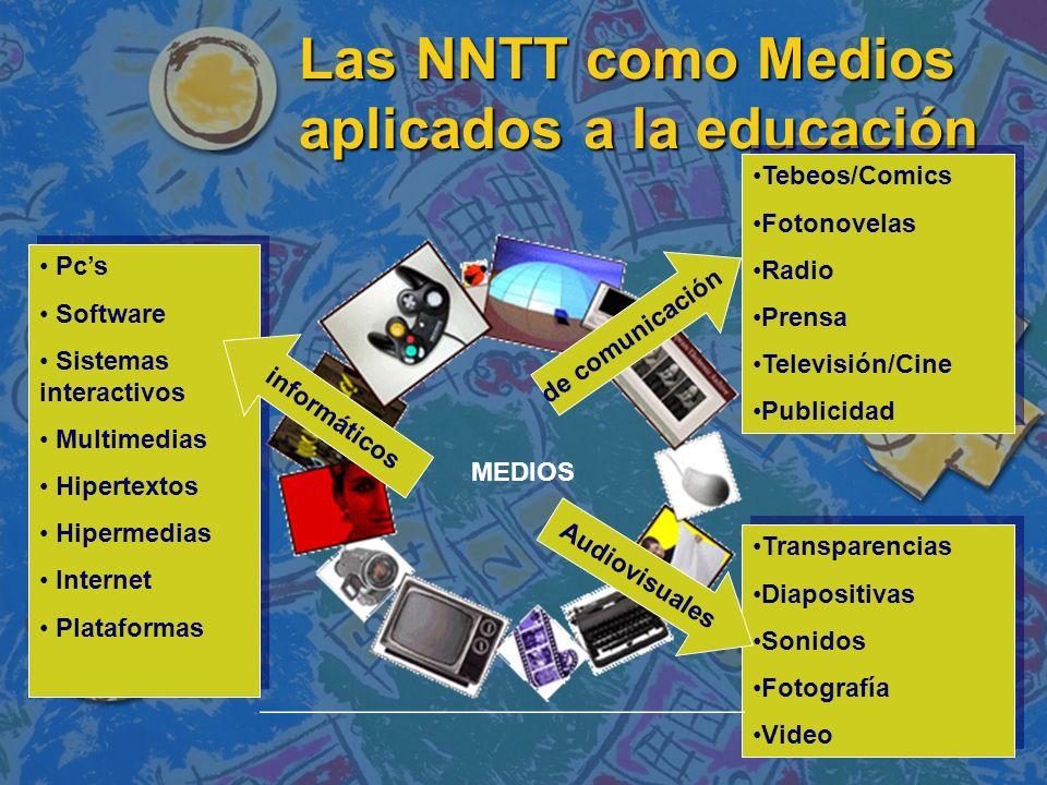 Las NNTT como Medios aplicados a la educación