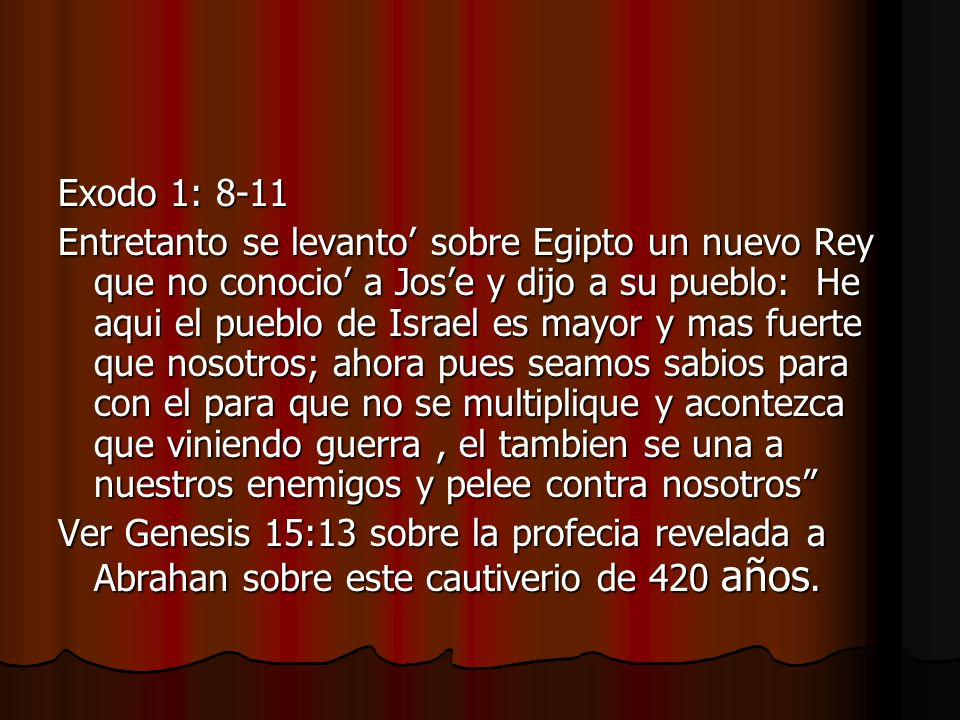 Exodo 1: 8-11