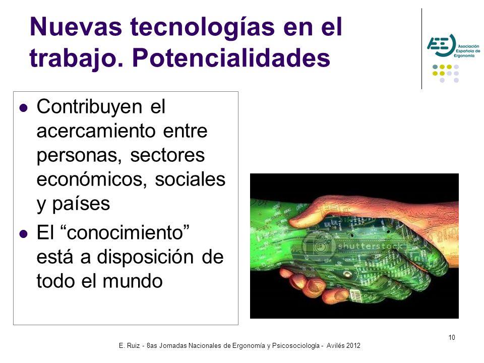 Nuevas tecnologías en el trabajo. Potencialidades
