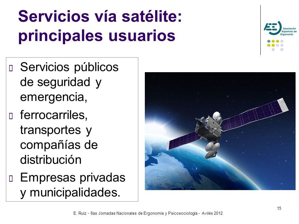 Servicios vía satélite: principales usuarios