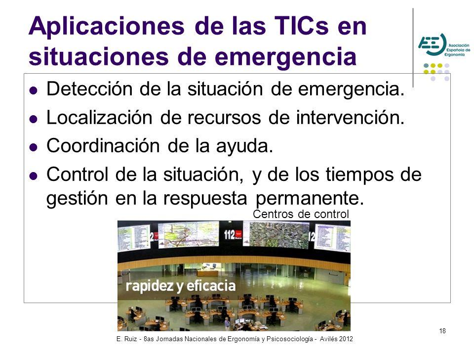 Aplicaciones de las TICs en situaciones de emergencia