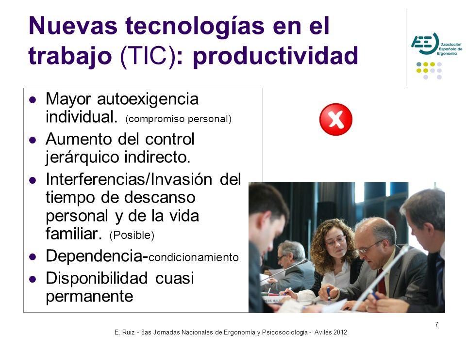 Nuevas tecnologías en el trabajo (TIC): productividad