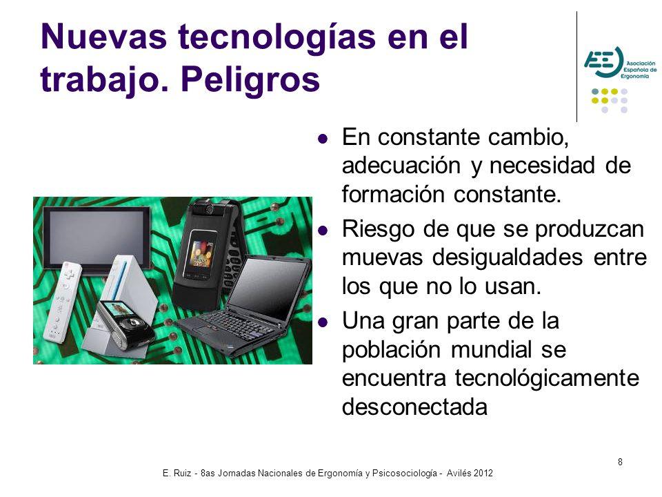 Nuevas tecnologías en el trabajo. Peligros