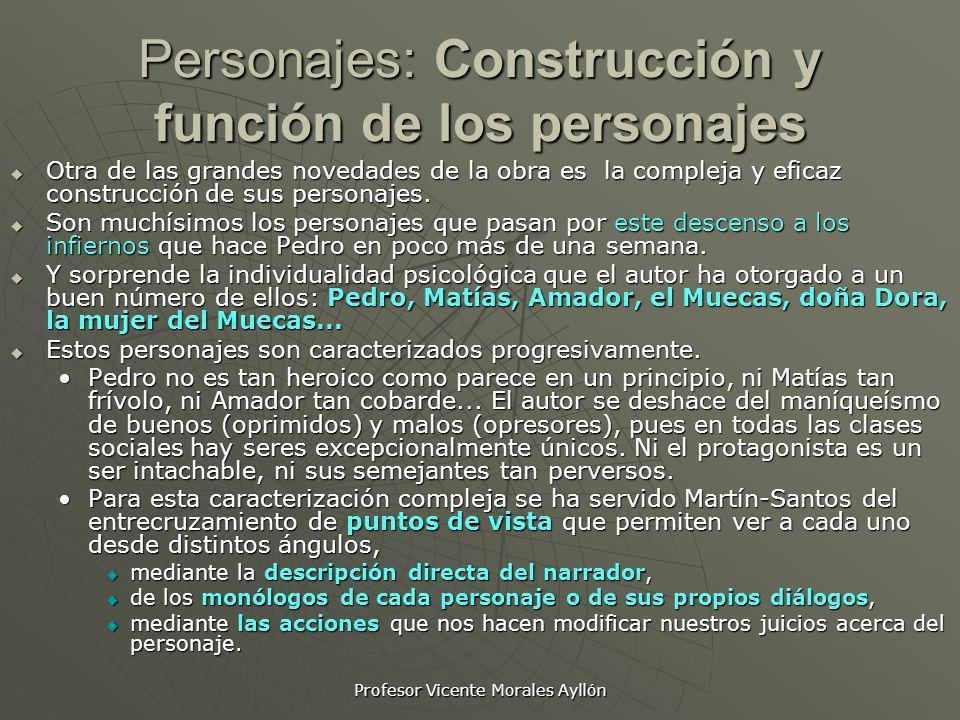 Personajes: Construcción y función de los personajes