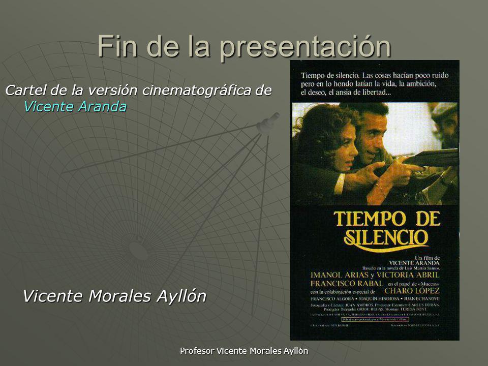 Profesor Vicente Morales Ayllón